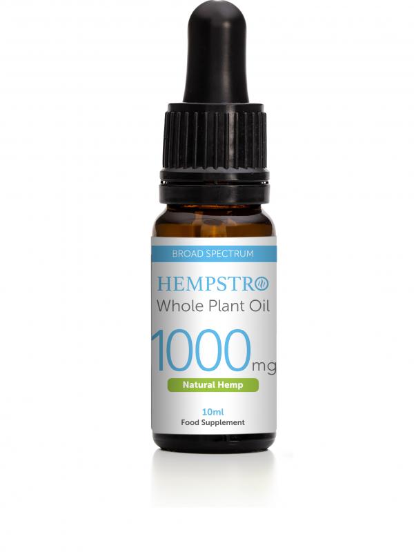 Hempstro Whole Plant CBD Oil 10ml 1000mg - Natural Hemp