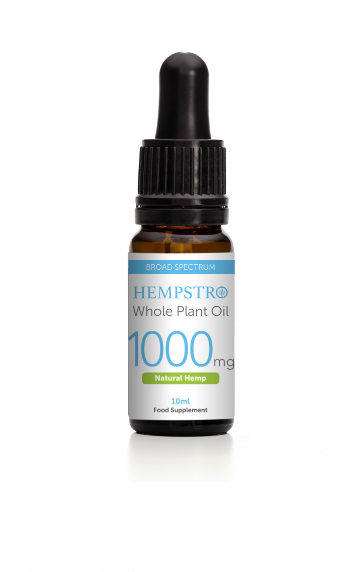 Hempstro Whole Plant CBD Oil 10ml 1000mg - Natural Hemp