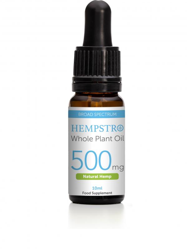 Hempstro Whole Plant CBD Oil 10ml 500mg - Natural Hemp