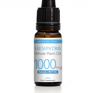Hempstro Whole Plant CBD Oil 10ml 1000mg - Natural + MCT Oil