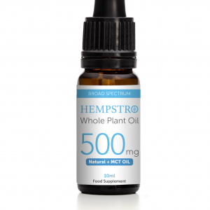 Hempstro Whole Plant CBD Oil 10ml 500mg - Natural + MCT Oil
